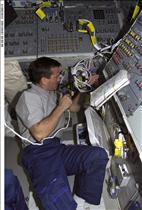 Astronaut Chris Hadfield on Endeavour, mission STS-100