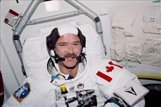 Astronaut Chris Hadfield on mission STS-100