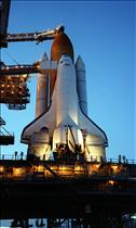 Endeavour before lift-off, mission STS-100