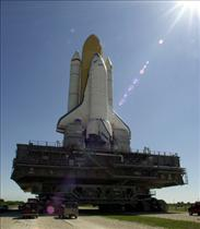 Space Shuttle Endeavour prior to launch of mission STS-100
