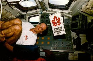 Astronaut Steve MacLean on mission STS-52