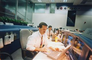 Astronaut Chris Hadfield, CapCom at Mission Control