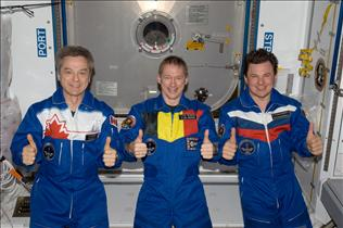 The Expedition 20 crew members
