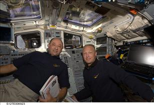 Astronauts Mark Polansky and Doug Hurley