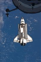 Space Shuttle Atlantis docked with the International Space Station