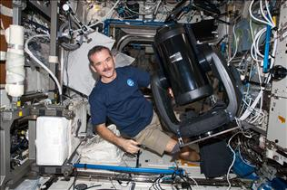 Hadfield with the ISERV Telescope