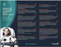 La mission de l'astronaute canadien David Saint-Jacques