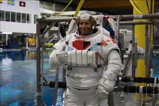 David Saint-Jacques ready for spacewalk training
