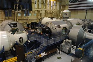 Mock-ups of International Space Station