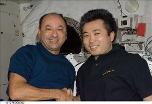 Mark Polansksy and Koichi Wakata