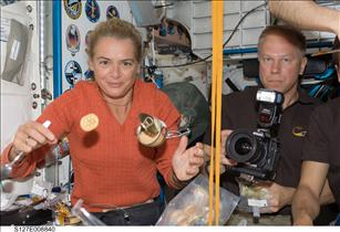 Mission Specialists Julie Payette and Tim Kopra