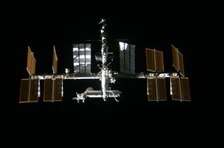 A closer view of the International Space Station (ISS)