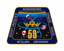 Écusson de l'équipage de la mission Expedition 59