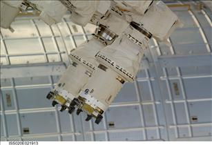The end effectors of Dextre's two arms