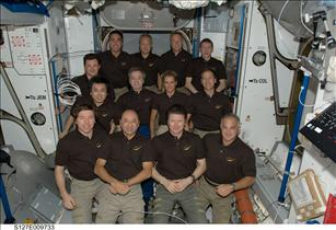 The STS-127 and Expedition 20 crew members