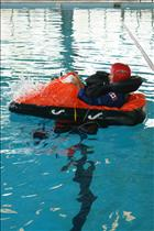 Chris Hadfield in water survival training