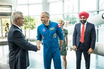 David Saint-Jacques accueilli à l'Agence spatiale canadienne