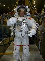 Jeremy Hansen's first EVA run in NASA's Neutral Buoyancy Laboratory