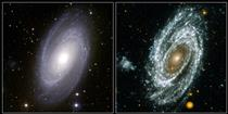 Seeing a galaxy in different lights
