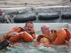 Chris Hadfield training for Soyuz splashdown