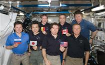All five ISS partner nations were represented together on board the Station