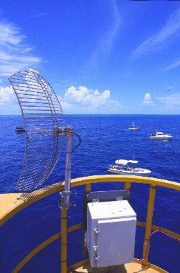 Photo de l'antenne du système de télémétrie