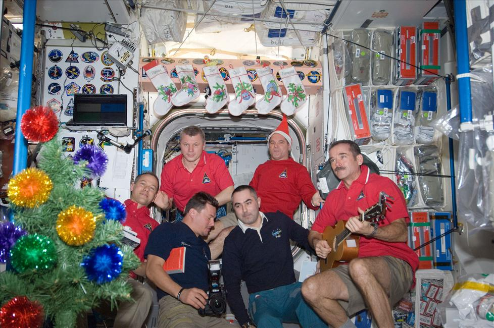 Holiday Merry Making on the ISS