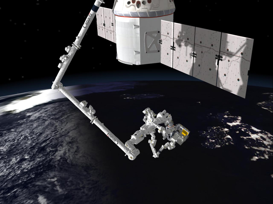 Dextre performs first robotic handoff in space