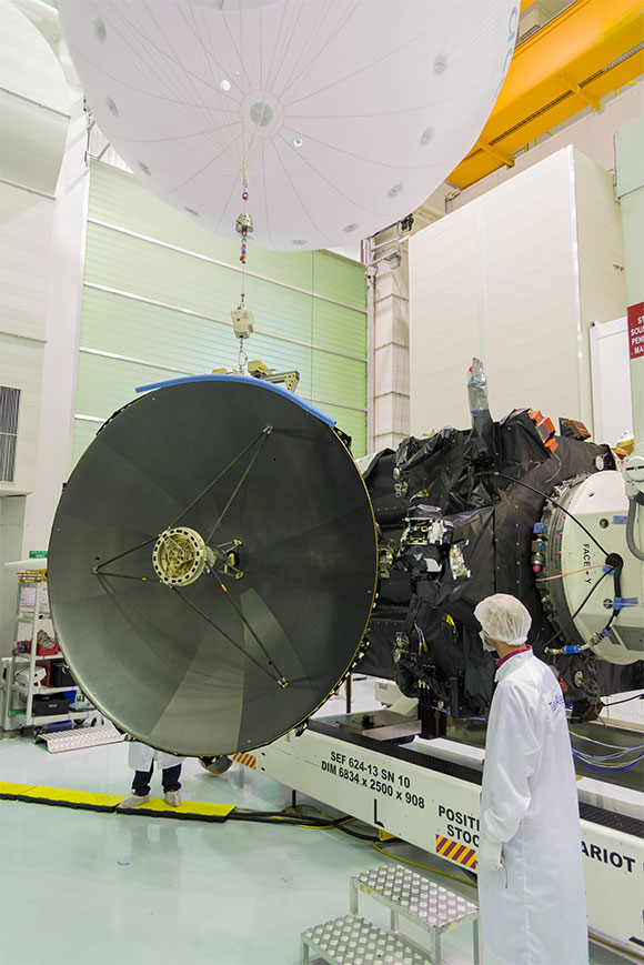 Testing ExoMars 2016's communications antenna