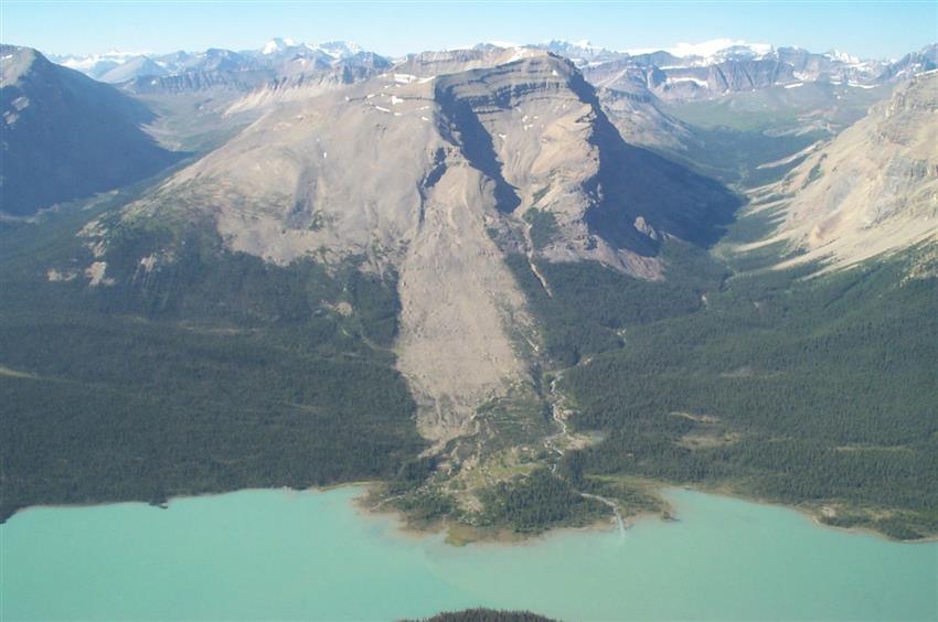 Rock landslide