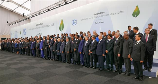 Heads of delegations at the 2015 United Nations Climate Change Conference in Paris
