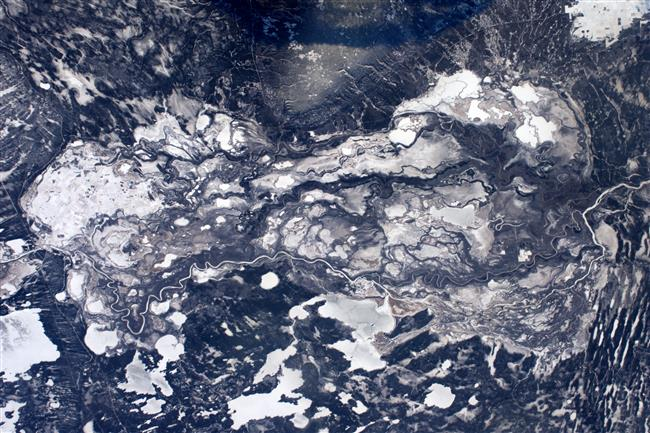 Icy Canada seen from space