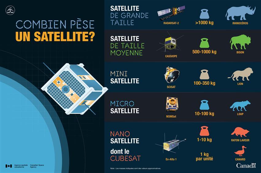 Combien pèse un CubeSat?