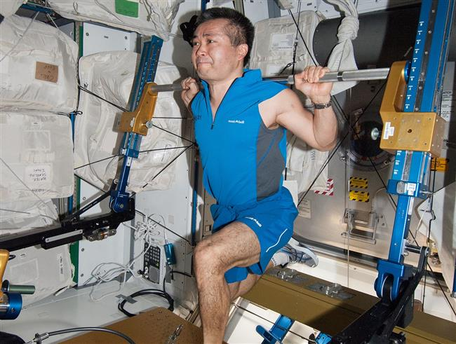 Astronauts in space get about 2 hours of exercise each day