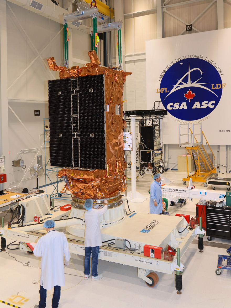 First RCM satellite passes TVAC test with flying colours!