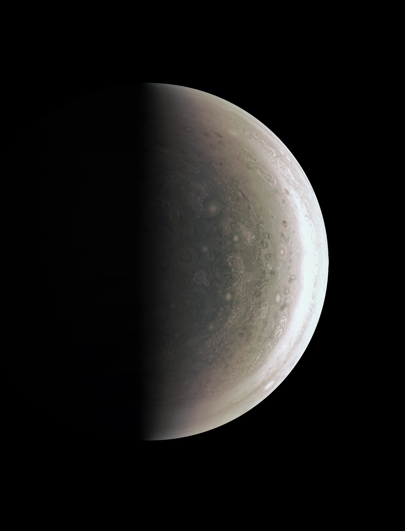 Never-before-seen perspective on Jupiter's South Pole