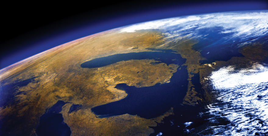 Great Lakes from the Space Shuttle