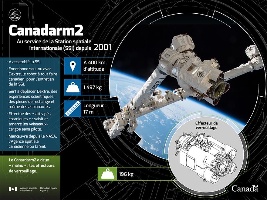 Remplacer une des « mains » du Canadarm2 - Infographie