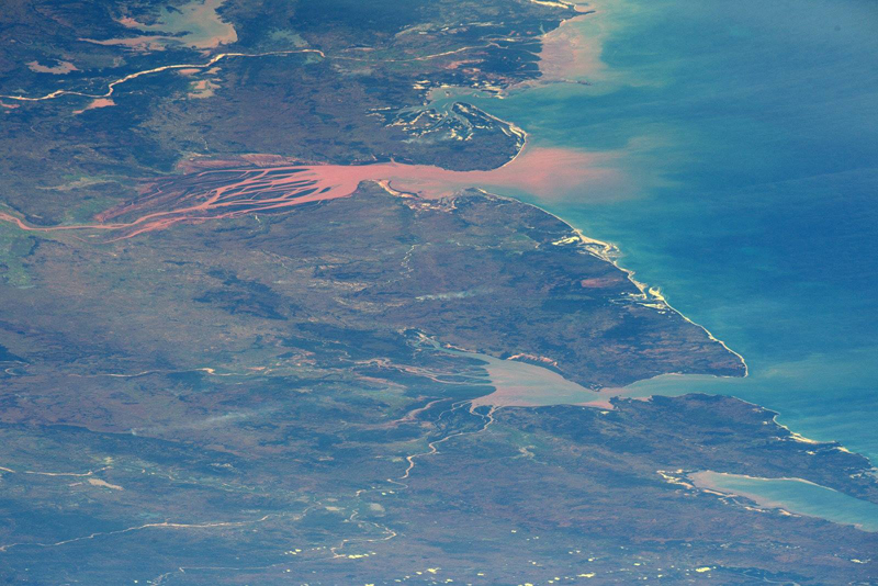 Red river deltas on Madagascar's west coast
