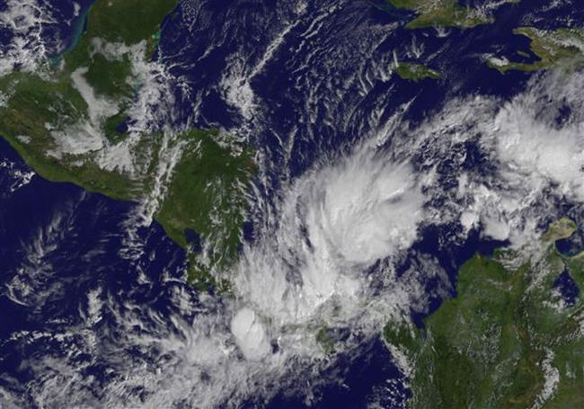 Tropical Storm Otto over Panama