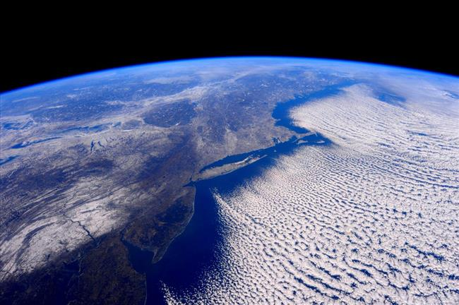 Image of a polar vortex from space