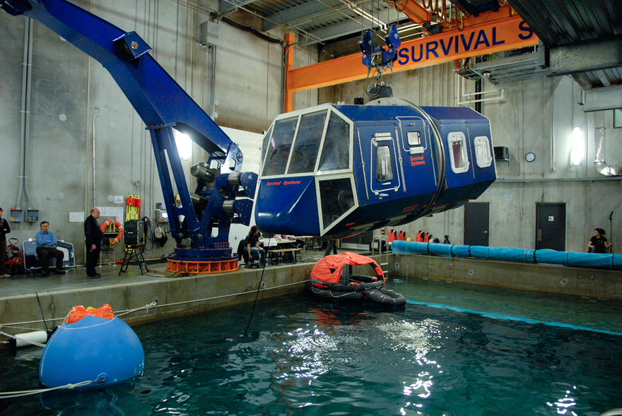 Survival Systems Limited's helicopter crash simulator