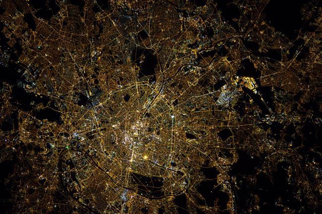 Paris seen from space
