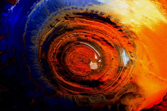 Image of the Richat structure from space