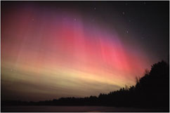 Photo of Aurora borealis result from solar storms