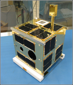 Photo of a space telescope