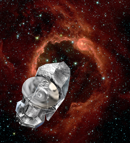 Artistic Image of the Herschel Space Observatory