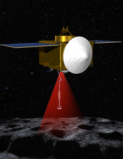 Artist's rendition of OSIRIS-REx Laser Altimeter