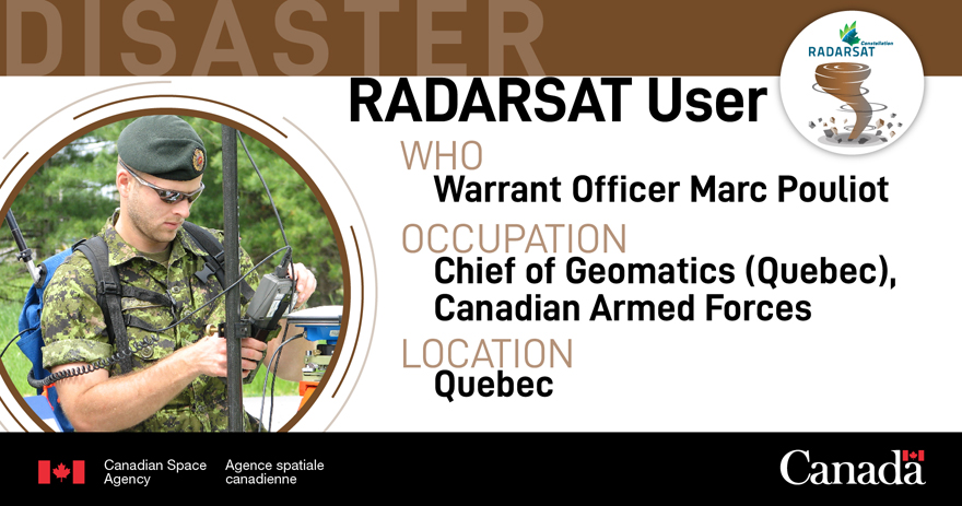RADARSAT user: disaster