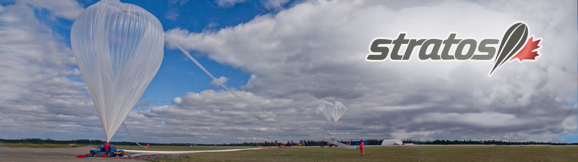 Balloon launched during the Strato Science 2014 Campaign